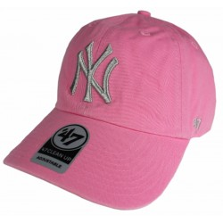 47 Brand czapka NY New York Clean rose B-MTCLU17GWS-RS