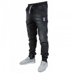 BOR jogger CLASSIC BORCREW guma strecz jeans szary