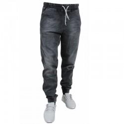 BOR jogger BORNEW OUTLINE guma strecz jeans szary