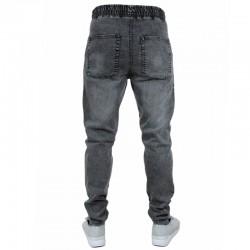 SSG spodnie STRETCH SKINNY jeans guma szary