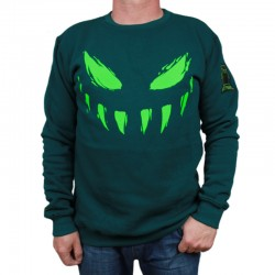 BOR bluza ATYPOWY SZPAKU Face klasyk zielony