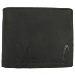 STOPROCENT portfel PFL CUTTAG LEATHER czarny