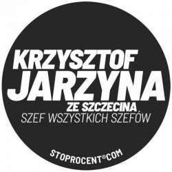 STOPROCENT wlepa SZEF black