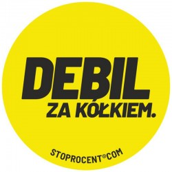 STOPROCENT wlepa DEBIL yellow/ black