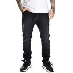 STOPROCENT spodnie CARROT WARNING jeans black
