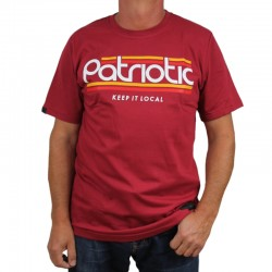 PATRIOTIC koszulka PATRIOTIC bordo