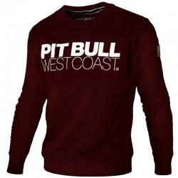PIT BULL bluza TNT PIT BULL klasyk burgund