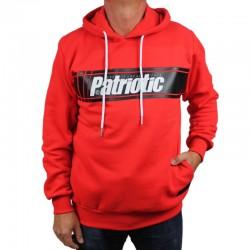 PATRIOTIC bluza CROSS kaptur czerwony