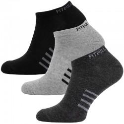 PIT BULL skarpetki THIN 3 PARIS black/grey/charcoal