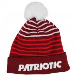 PATRIOTIC czapka FUTURA P LINE pompon biały/czerwony