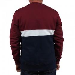 ELADE bluza COLOUR BLOCK klasyk maroon