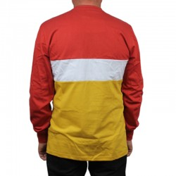 PROSTO longsleeve TONZ long bordo/yellow