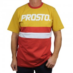 PROSTO koszulka AMI yellow / bordo