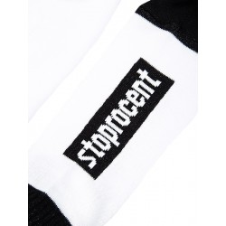 STOPROCENT skarpetki LOGO white / black