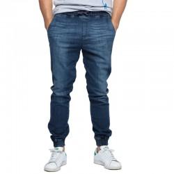 DIAMANTE jogger CLASSIC jeans dark wyprany
