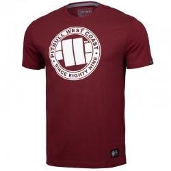PIT BULL koszulka CHEST LOGO burgund