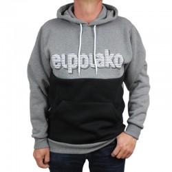 EL POLAKO bluza CLASSIC STRIPES CUT kaptur szary