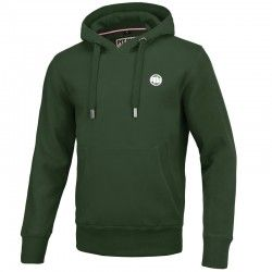 PIT BULL bluza SMALL LOGO green kaptur