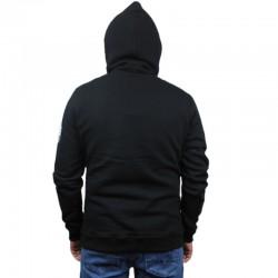 DIIL bluza STRIPS HEMP GRU black kangur
