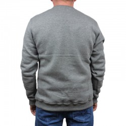 DIIL bluza STRIPS HEMP GRU grey klasyk