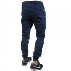PATRIOTIC jogger FUTURA MINI jeans niebieski