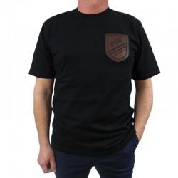 P56 DUDEK koszulka HERB POCKET czarny