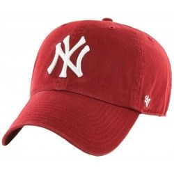 47 Brand czapka NY New York Yankees Clean GWS-RD red
