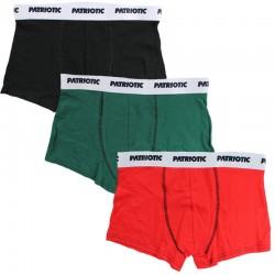 PATRIOTIC bokserki 3 PACK FUTURA blcak / green / red
