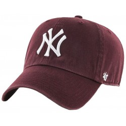 47 Brand czapka NY New York Yankees Clean bordo