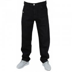 PROSTO spodnie FLAVOUR baggy jeans CZARNY