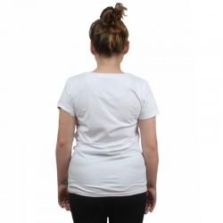 PROSTO koszulka LEAF damska white