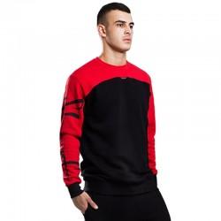STOPROCENT bluza BBK TAGSLEEVE slim black / red
