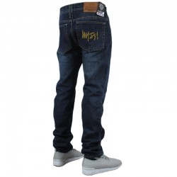 MASS spodnie SIGNATURE jeans dark blue