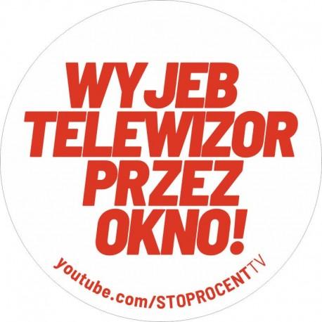 STOPROCENT wlepa STOPRO TV white