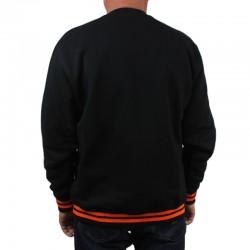 LUCKY DICE bluza LOGO CUT crewneck black / orange