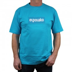 EL POLAKO koszulka LOGOBOX błękit